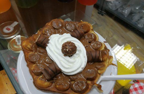 Bubble Waffle Madrid Nutella